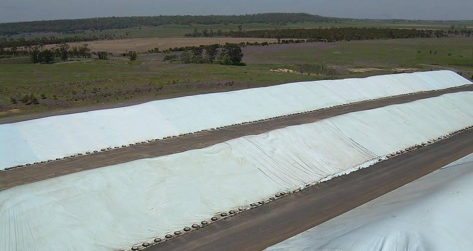 Flat Tarp Grain Bunker Cover 3