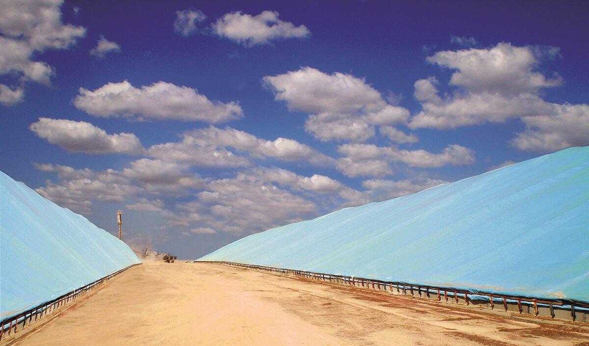 Flat Tarp Grain Bunker Cover 5