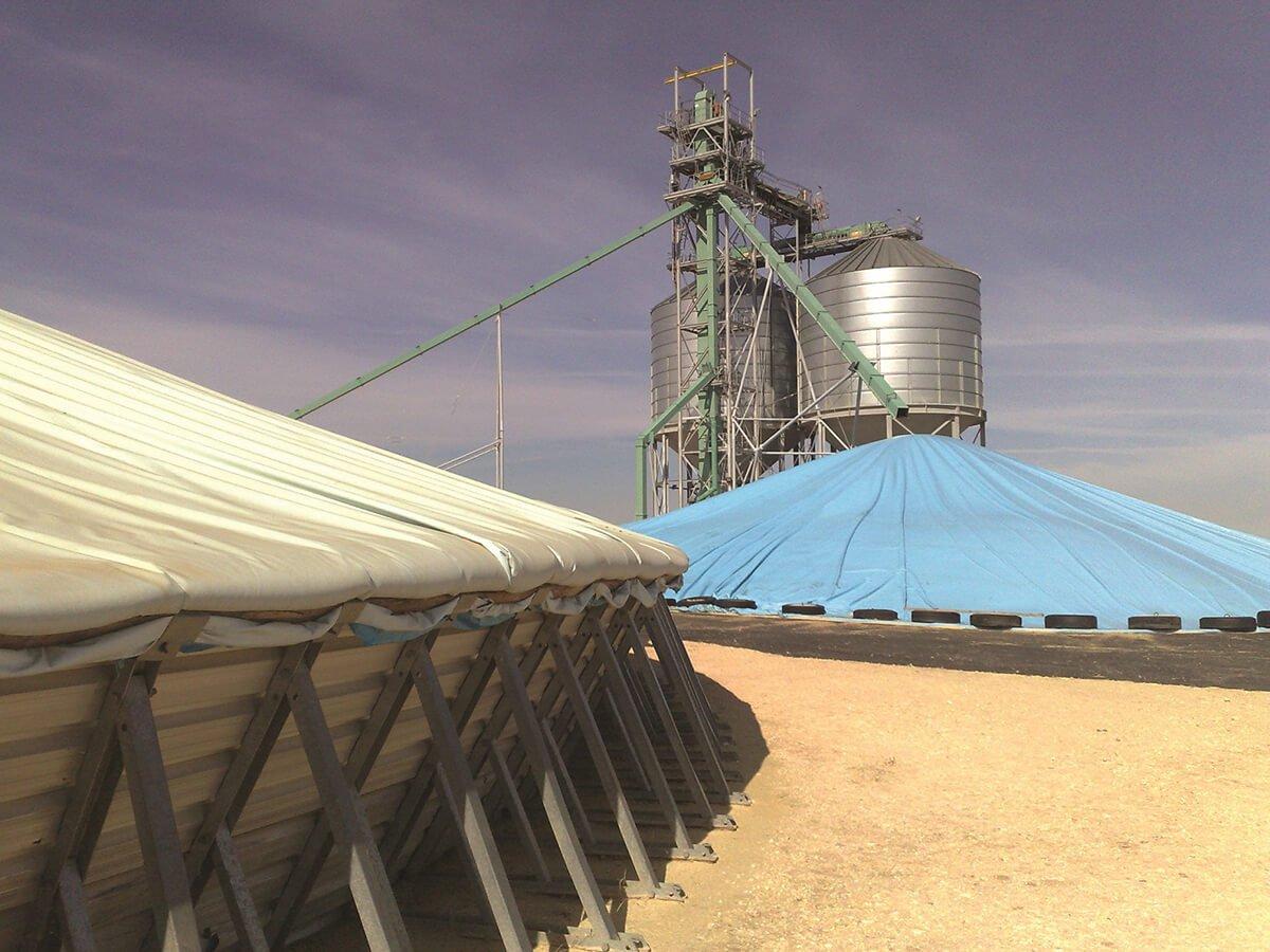 Flat Tarp Grain Bunker Cover 6