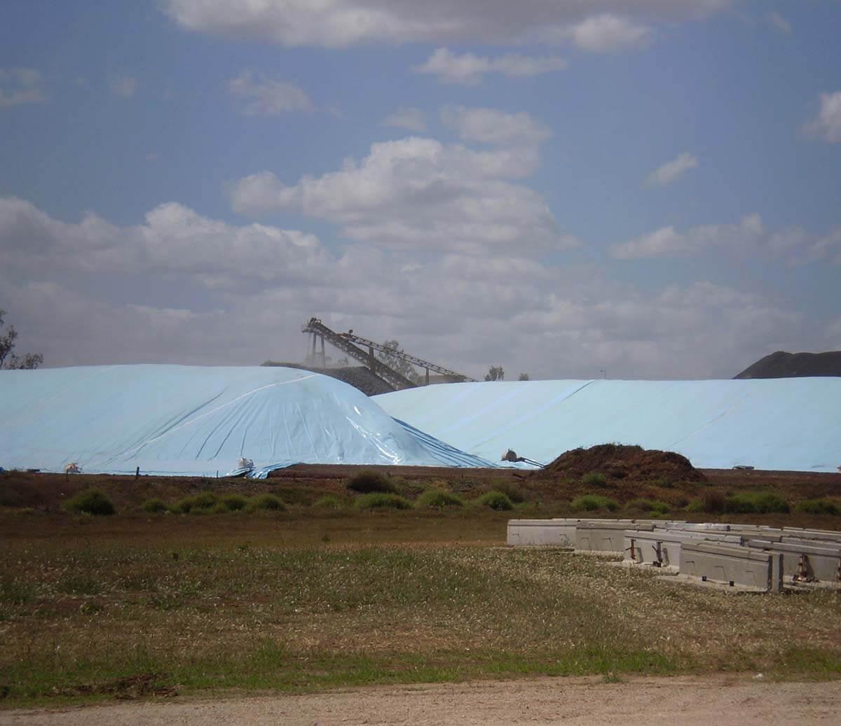 Flat Tarp Grain Bunker Cover