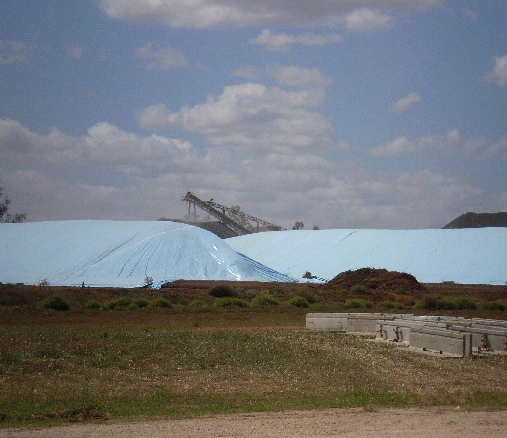 Flat Tarp Grain Bunker Cover 8