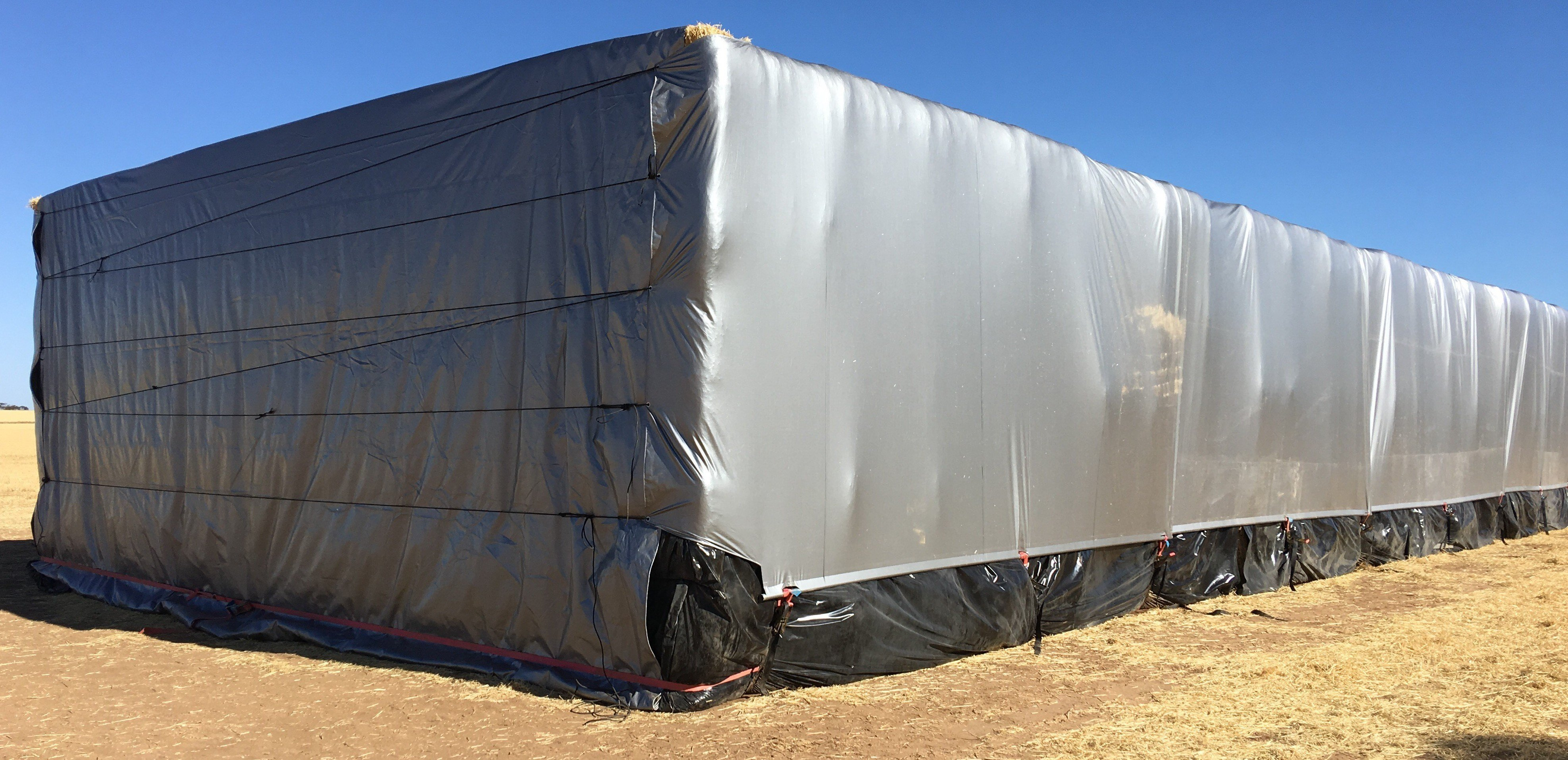 Protected Hay with Cover Tarpaulin